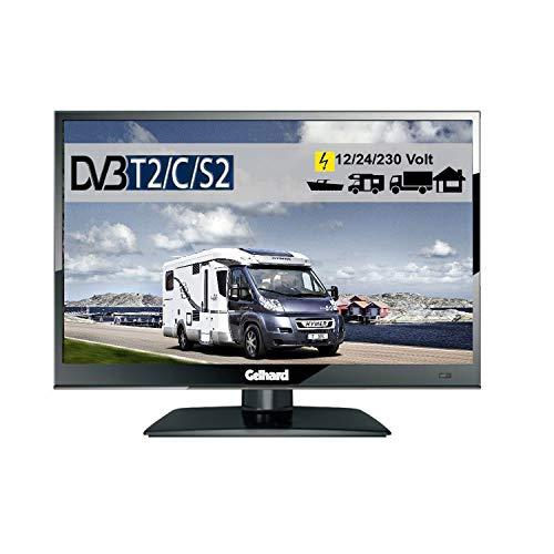 Gelhard GTV1642PVR LED TV 16' Full HD SAT Fernseher40cm, DVB-S2 /-C/-T/-T2 230V + 12 + 24 Volt Wide Screen für Wohnmobil, Truck, LKW