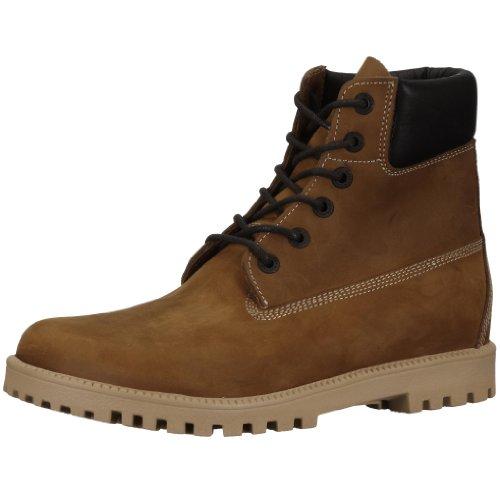 Birkenstock Norton 24021, Unisex - Erwachsene Stiefel aus Nubukleder, Braun (Mittelbraun gewachst), EU 41 (normal)