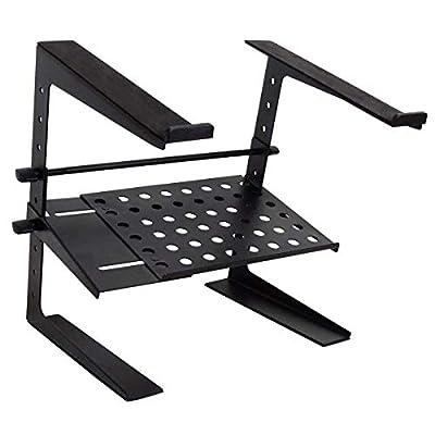 keepdrum HA-LS20 Laptop Stand DJ Stand with Shelf Height-Adjustable Black