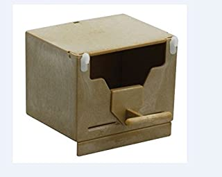 Pet Ting Plastic Finch Nest Box - Finch Nest Box with Hooks - 13x10x9.5h (Pack of 5)