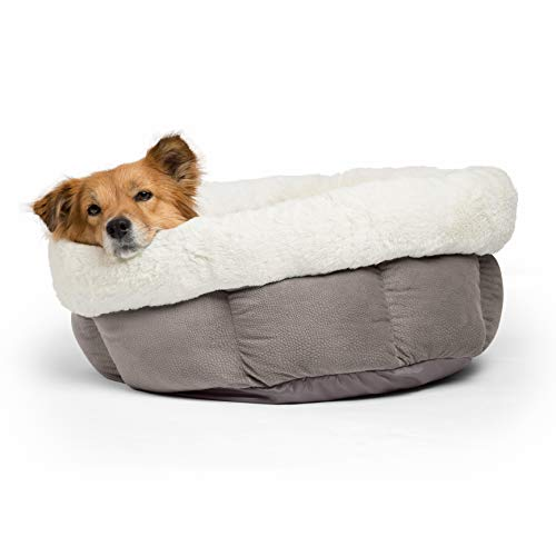 Best Friends by Sheri Jumbo Cuddle Cup - Cozy, Comfortable Cat and Dog House Bed - High-Walls for Improved Sleep, Gray