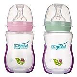U-Grow Anti Colic Wide Neck Heat Sensitive Baby Feeding Bottle (Pack of 2)