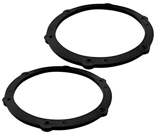 Aerzetix: 2 Adaptadores soportes de Altavoces - 165mm - Puertas Delanteras/Traseras - Hatchback – para Automóvil