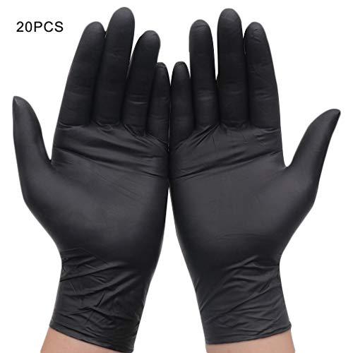 guanti monouso neri WeiCYN 20 Parti/Set di Pulizia della Famiglia Guanti in Lattice monouso Alimenti/Gomma/Guanti da Giardino