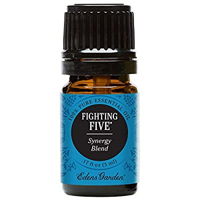 Edens Garden Fighting Five Essential Oil Synergy Blend, 100% Pure Therapeutic Grade (Highest Quality Aromatherapy Oils- Cold Flu & Detox), 5 ml