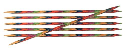 KnitPro KP20130 Knit Pro 10 cm x 3.25 mm Aiguilles Double Pointes par symphonie, Multi-Couleur, Bois, Multicolore, 10 cm x 3,25 mm