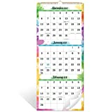 2021 Calendar - 3 Month Wall Calendar Display (Folded in a Month), 11' x 26', Vertical Calendar with Thick Paper, September 2020 - December 2021, Perfect for Organizing & Planning