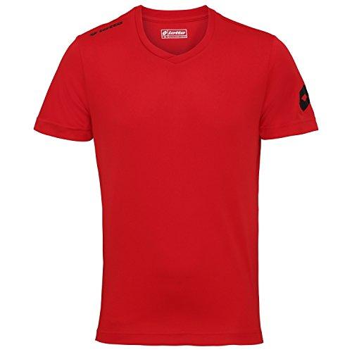 Lotto Sport Herren Kurzarm-Shirt Jersey Team Evo, Flame, XL