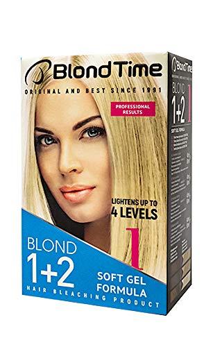 Pack Économique 2 x blond 1 + 2 produit pour le blanchiment des du cheveux, blond Time