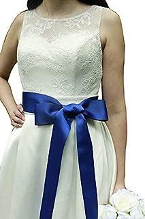 Wedding Sash Bridal Belts Simple Classic Silk Ribbon Sash for Dress