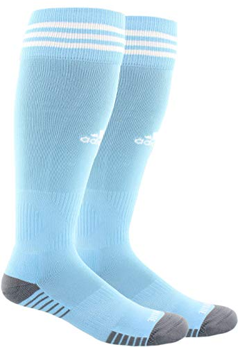 adidas Unisex Copa Zone Cushion IV Soccer Socks (1-Pair), Argentina Blue/White, 9-13