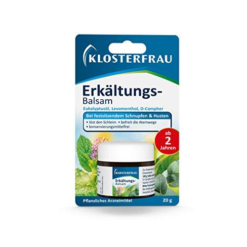 Klosterfrau Erkältungs-Balsam   Bei festsitzendem Schnupfen & Husten   Mit Eukalyptusöl   20 g Salbe