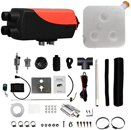 TOPQSC 12V 5KW Calentador de Combustible de Aire Diesel,Salida de Temperatura Constante,Temperatura de Ajuste Digital,Interruptor LCD de Sincronización,para Camiones,Barcos,Coches,RVs,Campistas