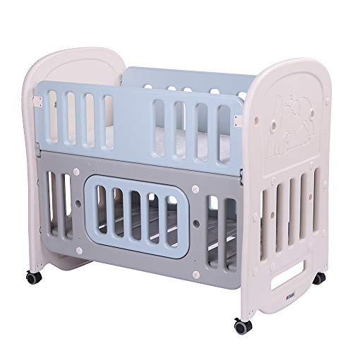 "JOYMOR 6-in-1 Baby Bed Crib with 2"" Mattress and Large..."