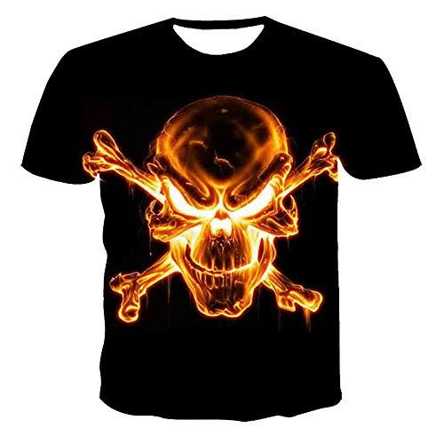 Manga Corta Gran Oferta, Nueva Camiseta con Estampado 3D De Calavera Punk para Hombre, Camiseta Informal De Verano para La Calle 110-6Xl De Talla Gran