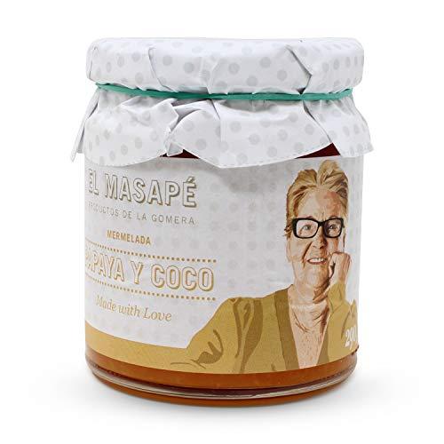 Papaya und Kokosnussmarmelade EL MASAPÉ 290 gr. Kanarische Produkte
