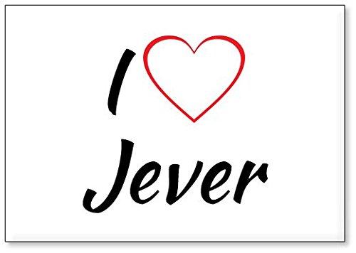 Mundus Souvenirs - Ich Liebe Jever, Kühlschrankmagnet (Design 1)