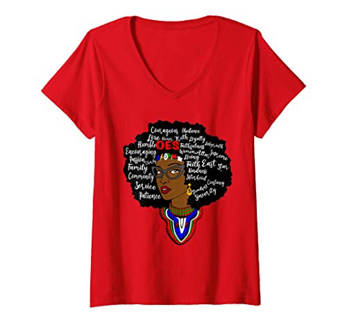 Womens OES Queen Eastern Star V-Neck T-Shirt