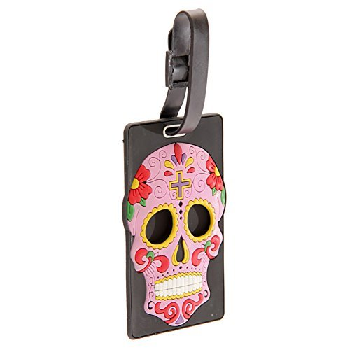Skull Luggage Tag (Day of The Dead) by Lauren Billingham
