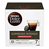 Nescafé Dolce Gusto Espresso Intenso Decaffeinato Caffè Espresso Decaffeinato 3 Confezioni da 16 capsule (48 capsule)