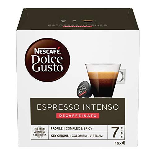 Nescafé Dolce Gusto Espresso Intenso Decaffeinato Caffè, 3 Confezioni da 16 Capsule (48 Capsule)