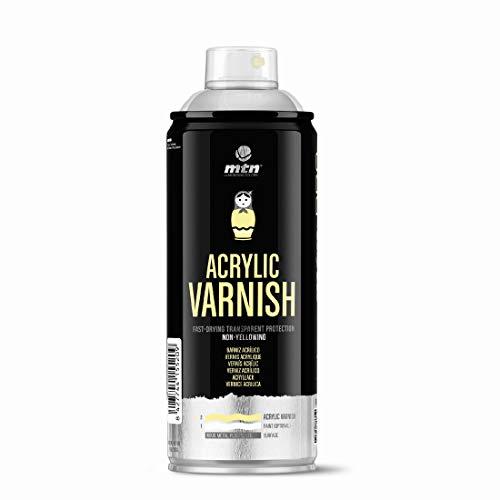 Montana Colors Barniz Acrílico, Spray 400ml, Transparente Satinado, 400 ml