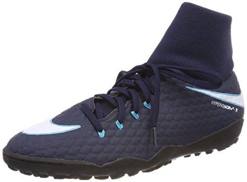 Nike Herren Hypervenom X Phelon 3 DF TF 917769 Fußballschuhe, Blau (Obsidian/Weiß-Gamma-Gletscher Blau 414), 42 EU