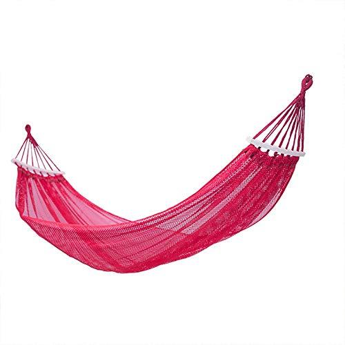 LIANYG Columpio Hamaca Doblado palillo de Hielo de la Seda antibalanceo Acampar al Aire Libre Ocasional de la Manera Simple Adecuado for su excursión hamacas Colgantes 228 (Color : Red)