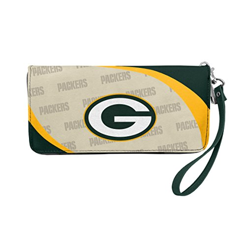 """Littlearth NFL Green Bay Packers Curve Zip Organizer Wallet , Measures 8"""" wide, 4"""" tall and 1"""" deep"""
