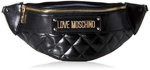 Love Moschino Damen Borsa Quilted Nappa Pu Umhngetasche, Schwarz (Nero), 17x32x8 centimeters (W x H x L)
