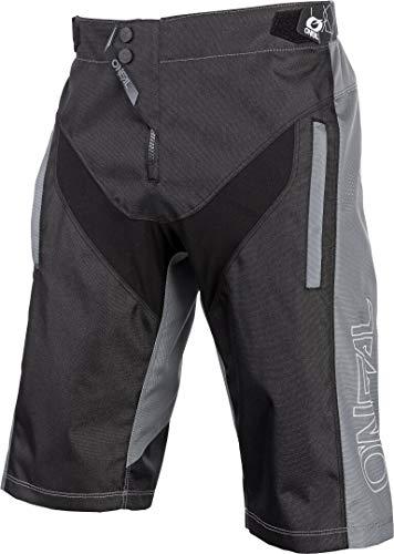 O'NEAL | Mountainbike-Hose | MTB Mountainbike DH Downhill FR Freeride | Strapazierfähiges Mesh-Material, Stretcheinsätze | Element FR Shorts Hybrid | Erwachsene | Schwarz Grau | Größe 32/48