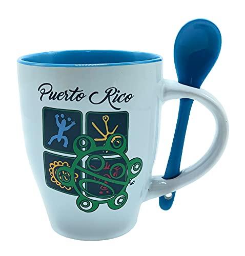 Puerto Rico Coffee Mug Taino 4 Blue #57