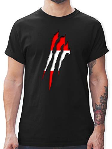 Länder - Österreich Krallenspuren - XL - Schwarz - österreich Tshirt - L190 - Tshirt Herren und Männer T-Shirts