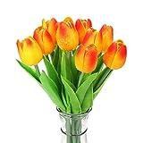 Hemore - 10 piezas de tulipanes de látex para decoración de ramo de boda (KC454, tulipán naranja)