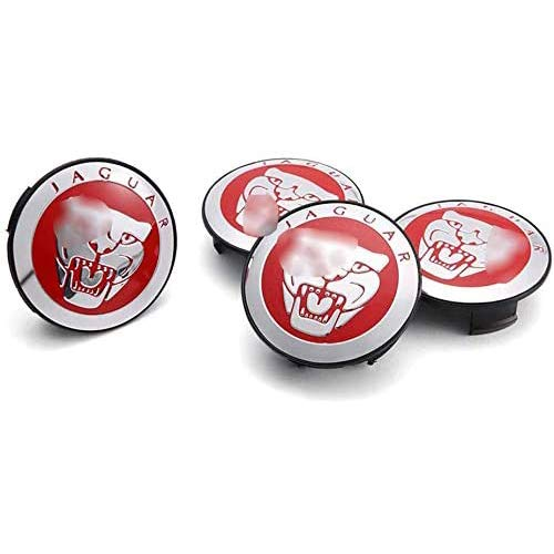 YANQIN para Ja-guar X Typ XK XF XJ XJ8 4 Piezas Tapas Centrales, Tapacubos Pegatinas Wheel Logotipo Casquillos Hub Caps AutomóViles Accesorios Cubo Coche ProteccióN NeumáTicos
