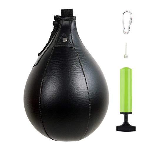 Generp Vitesse Balle, Poire De Vitesse De Boxe, Speed Bag Boxe en Cuir pour Boxe, MMA, Muay, Fitness Ou Combat Comfortable