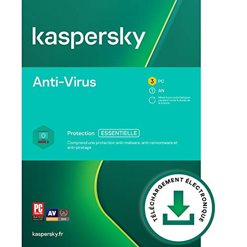 Kaspersky Anti-Virus 2021 | 3 Appareils | 1 An | Windows | Code d'activation – Envoi par Email