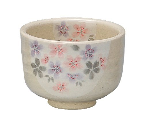 Yamakiikai Japanische Mino-Yaki Keramik Teetasse Matcha Schale Kakurin Hellblau 11 cm