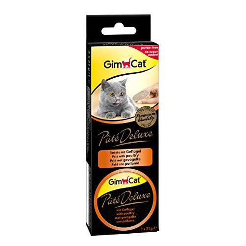 GimCat Pate Deluxe con Pollame, Confezione da (8X 63G)