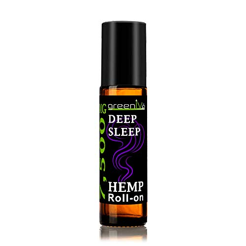 7,500mg Hemp Roll-On Deep Sleep Therapeutic Essential Oil Blend Calming and Relaxing C02 Extraction Exclusively on Amazon (1 Pack)