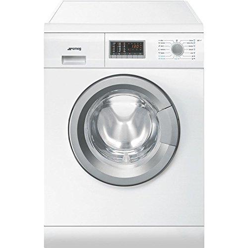 Smeg LSE147 Independiente Carga frontal A Blanco lavadora - Lavadora-secadora (Carga frontal, Independiente, Blanco, Izquierda, Botones, Giratorio, Acero inoxidable)