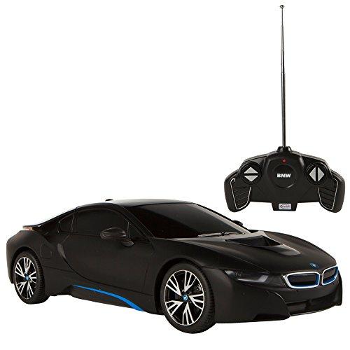 Rastar Coche teledirigido 1:18 BMW i8, color negro, (Colorbaby 75895)
