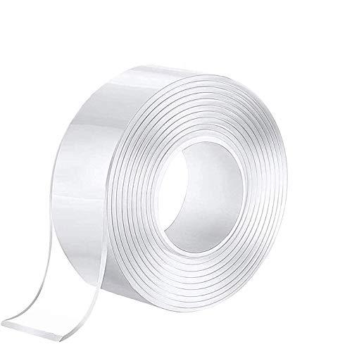 テープ 両面テープ Borriem 5m 透明テープ 超強力魔法テープ 魔法テープ 魔法の両面テープ 強力 マジックテープ 多機能テープ のり残らず はがせるテープ 透明 防水 洗濯可能 で繰り返し利用可能 滑り止めテープ 耐熱 家庭 オフィス 寮 学校 会社 工業用など