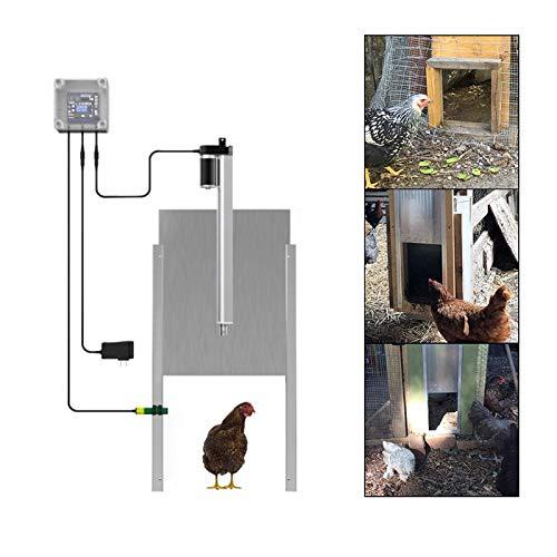 PAKASEPT Automatische Hühnerklappe Hühnertür 30 x 32cm, Türöffner Hühnerstall mit Zeitschaltuhr, Automatische Huhn Haus Türöffner, Wasserdicht, mit Fernbedienung, Sicherheitssensor