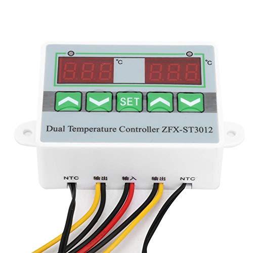 Termostato ZFX-ST3012-50 ℃ 〜110 ℃ Termo de microordenador eléctrico Pantalla dual con...