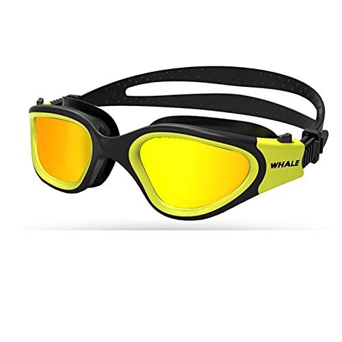 JSJJAWD Occhialini Bambini Adulto Goggull Professional Impermeabile e A Protoia UV Accessori per Nuoto Regolabili Piscina Glasses Swim (Color : C, Eyewear Size : G)