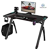 Best Gamer Desks - Lemberi 47 Inch Gaming Desk with RGB LED Review