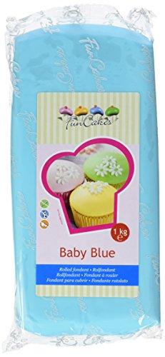 FunCakes Fondant Baby Blue: Einfach zu Verwenden, Glatt, Elastisch, Weich und Schmeidig, Perfekt zum Dekorieren von Torten, Halal, Koscher und Glutenfrei. 1 kg