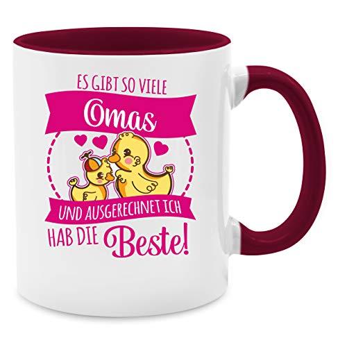 Shirtracer Tasse für Oma - Es gibt so viele Omas - Fuchsia - Unisize - Bordeauxrot - Geschenk - Q9061 - Tasse für Kaffee oder Tee