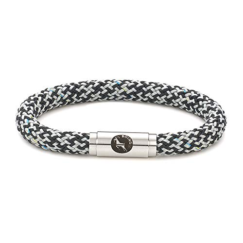 Boing's Unisex Bracelets. Durable Climbing Rope Cord Cuff with Magnetic Claps for Men Women who Love The Great Outdoors and Fashion. (Isaac, 18)